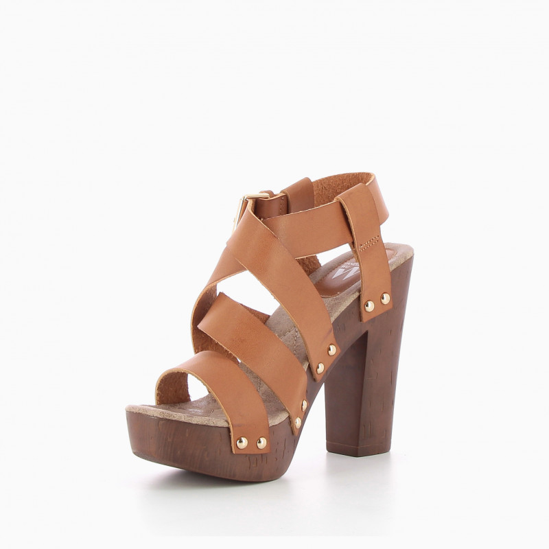 cd02a5b5aac9 ... Camel strappy heeled clog ...