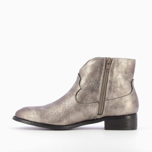 Silver textured western boots