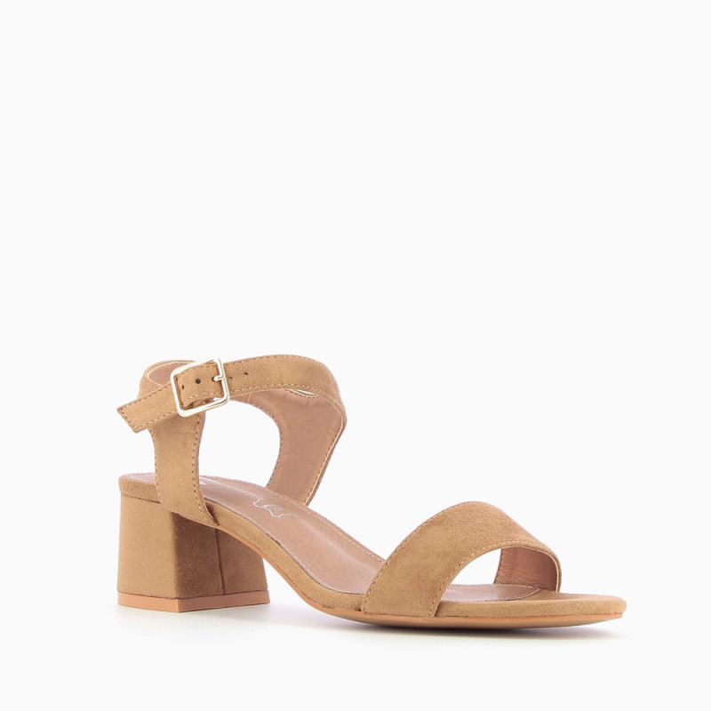 57101d700308 Camel sandals with thick low heel - Vanessa Wu Store