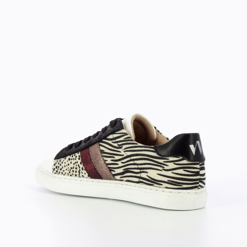 Black and white animal-print sneakers