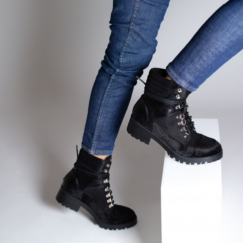 Black multi-material rangers boots