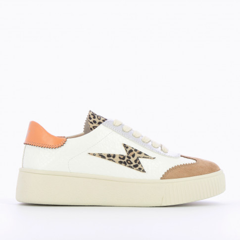 Leopard lightning sneakers with laces